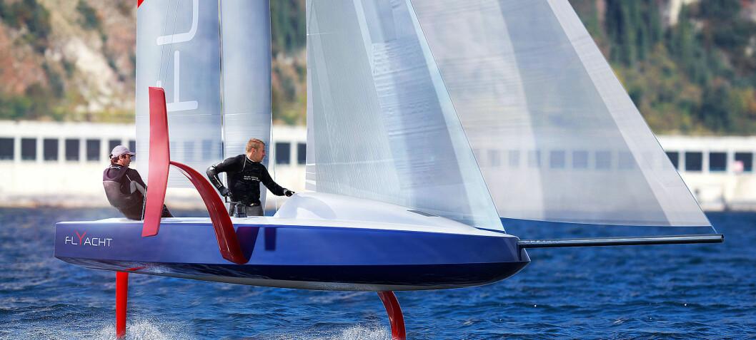 America's Cup-båt i miniformat