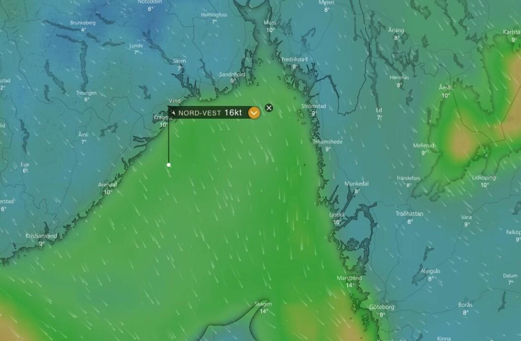 JOMFRULAND: Frisk vind gir løpsendring på siste etappe.
