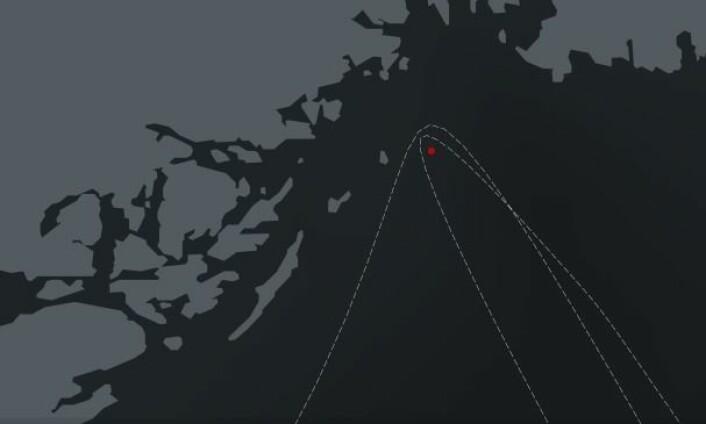Runder merke vest i Langesúndsfjorden