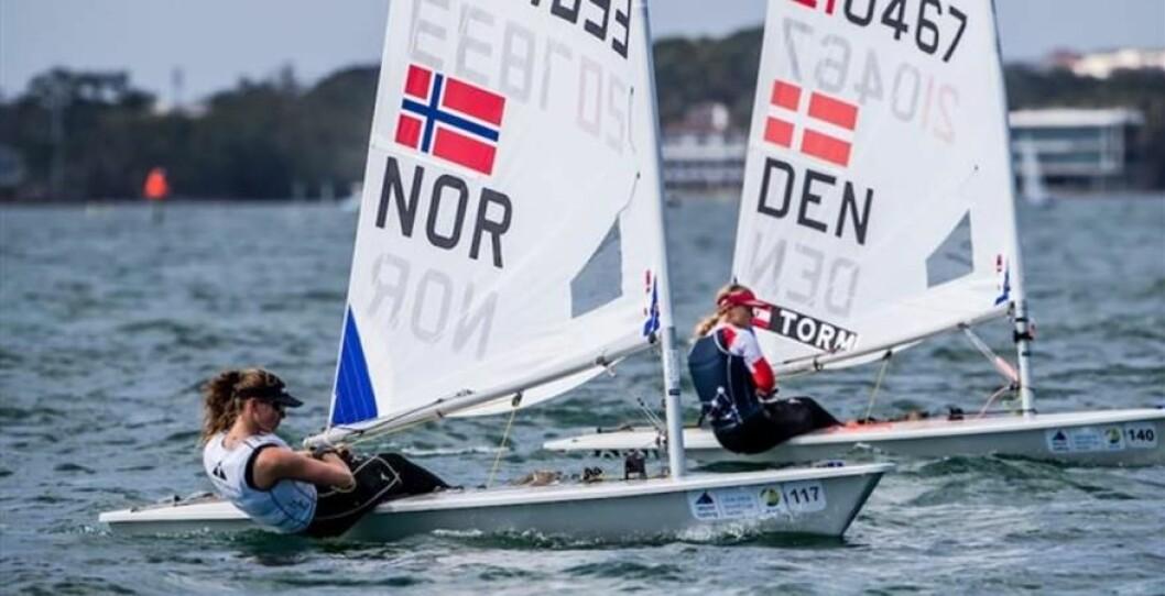 Kjemper om VM gull, Line Flem Høst og Anne-Marie Rindom.