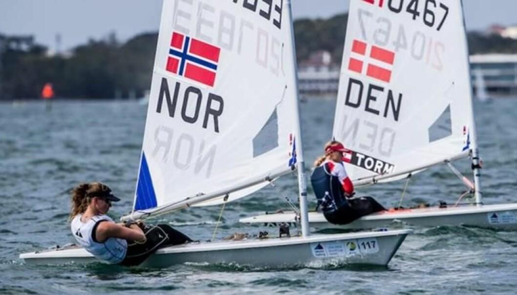 Gode venner og harde konkurrenter, Line Flem Høst og Anne-Marie Rindom.