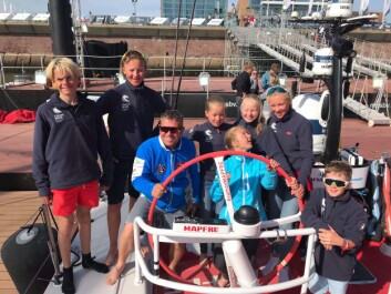 VOR: De norske optimstseilerne om bord i «Mapfre»