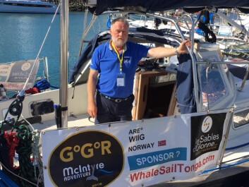 KLAR: Are Wiig klar i båten for 250 døgn til havs.