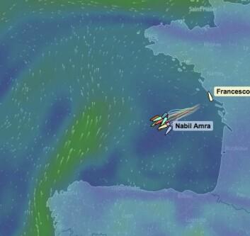 HØYTRYKK: Båtene lengst nord vil få vinden først, men må krysse sydover.