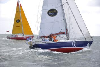 RASK: Fire av de første båtene i Golden Globe Race er av typen Rustler 36.