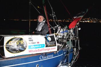 SOLO: Are Wiig fotografert ved passering av Lanzarote. Da som 4. båt, som nå.