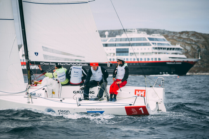 UTROPSTEGN: Kanskje kommer hurtigruta og tuter og heier på Tønsberg Seilforening i Molde også?