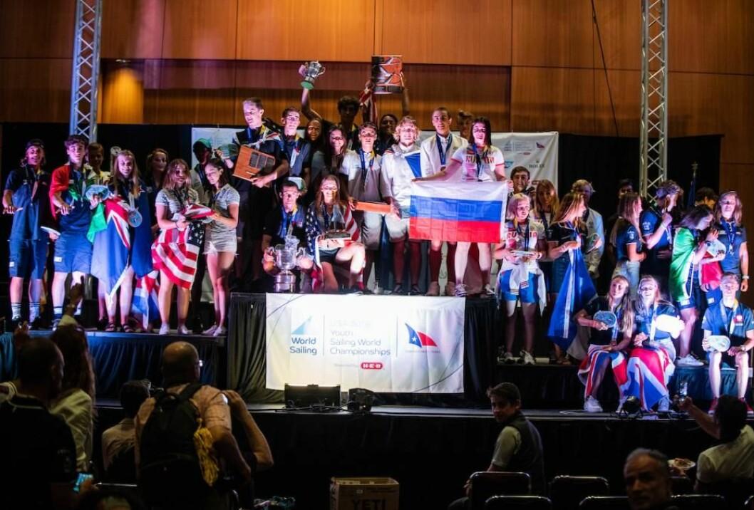 Medaljeseremoni Ungdoms VM 2018