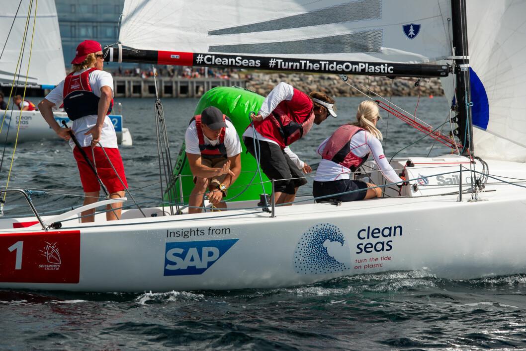 VANT: Risør Seilforening hadde marginene på sin side og gikk til topps i seilsportsligaen i Molde.