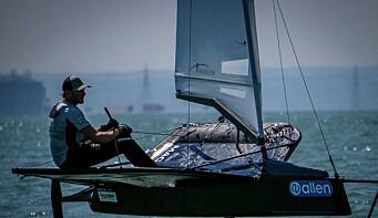 Alexander Ringstad på foiler. SailGP kan bli neste.