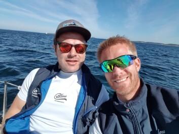 WILDCARD: Christian Løken og Petter Mørland Pedersen stiller lag i Risør.