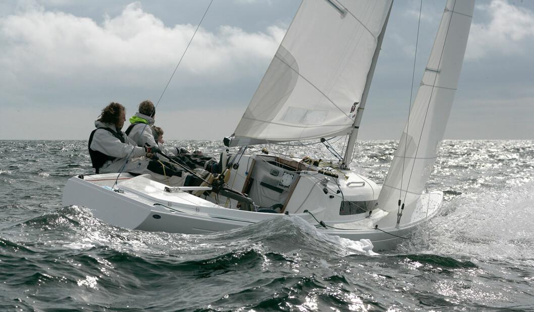 NM OG VM: Mange utenlandske båter kommer til Sandefjord for å seile både NM og VM.