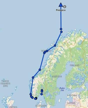NORDOVER: Ekspedisjonen startet i Drøbak, og har nå nådd Bjørnøya.
