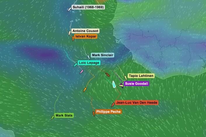 VIND: Are Wiig vil få igjen vinden i morgen, men den vil være fra syd, som igjen gir kryss. Båtene lengre syd har en mer østlig retning som gir rommere vinkel.