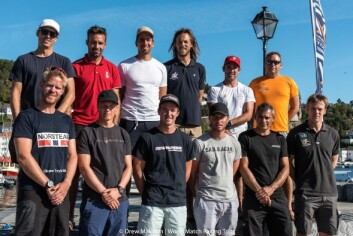 PROFFE: Petter Mørland Petersen utfordrer 11 proffe skippere i Risør.