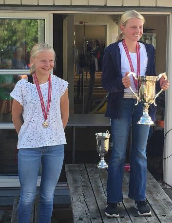 VINNERE: Gull til Mia Beckmann Klæboe. Sølv til Marie Robertstad  og bronse til Julia Jacobsen fra KNS.