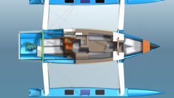 TUR: Dragonfly 40 får en stor lugar akter med køye under cockpiten.