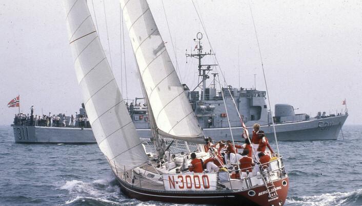 INTERNATIONAL OFFSHORE RULE: «Berge Viking» er en typisk representant for generasjonen av IOR-båter. Typisk for båtene er blant annet den smale hekken.