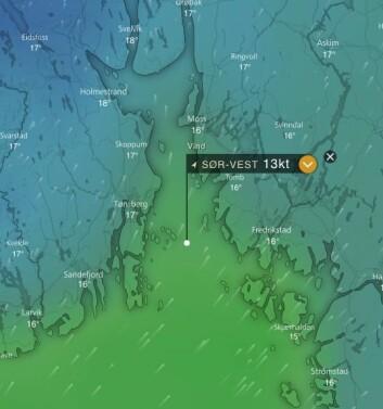 VIND: Vinden blir gradvis sterkere utover dagen, og lengre ut i fjorden.