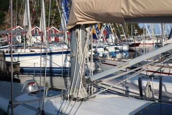 ORUST: På Ellös vil de mest spennende båtene ha blå stripe og teakdekk.