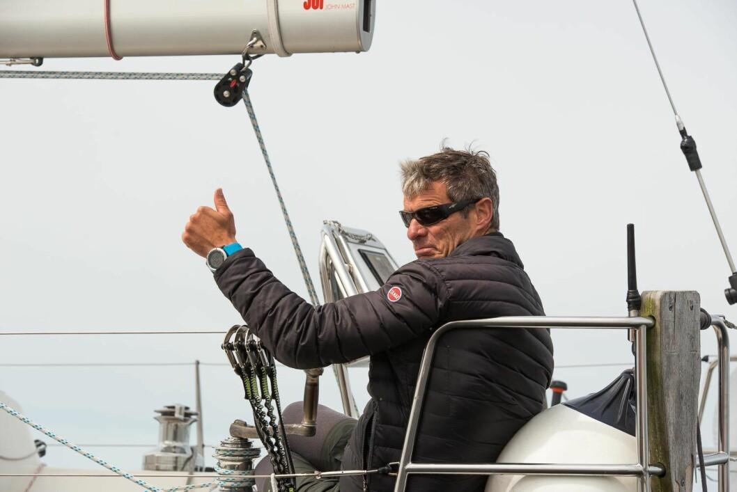 KNAPP LEDELSE: Alf Magne Andersen fra Nesodden har en knapp ledelse i kampen om å bli Årets Shorthanded-seiler. I Hollænder?n kan han kapre flere poeng.