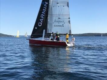 LETT: «Karma Police» er en av båtene som glir lett i lite vind.