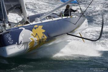 "15_67970 © Th.Martinez / GITANA SA. LORIENT - FRANCE . 24 Août 2015.First sail of new IMOCA \""MONO60 EDMOND DE ROTHSCHILD\"" , skipper Sébastien Josse (FRA), co-skipper Charles Caudrelier (FRA)"