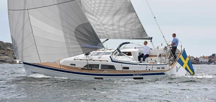 ETTERSPURT: Hallberg-Rassy 340 er godt mottatt i markedet, som de andre nye HR-modellene.