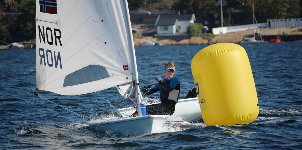GULL: Olai Hagland fra Stavanger vant NM-gull i Laser Standard.