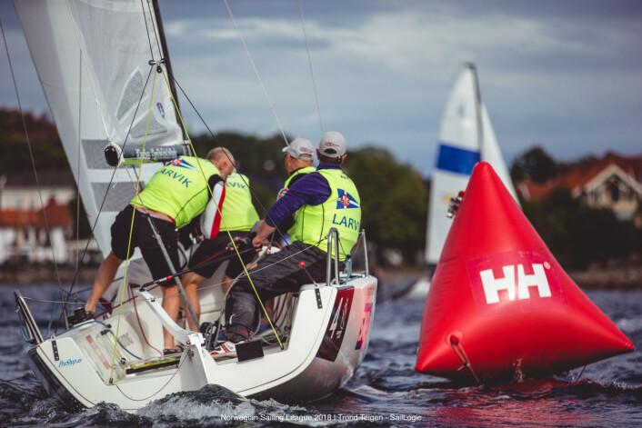 VIL KJEMPE: For Larvik-seilerne vil det å kjempe om en plass i Sailing Champions League står i fokus i Arendal.
