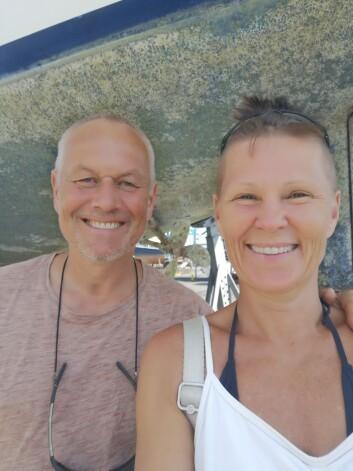 VIND: Even Øiestad og Marianne Aasgaard satser på at vinden skal føre dem fram til drømmestedende.