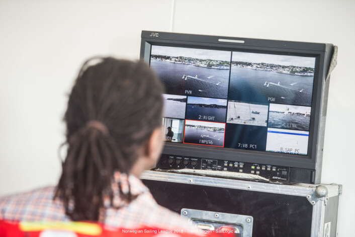 FLER KAMERAER: Seilsportsligaen er blitt formidlet via flere kameraer som er blitt mikset sammen til en sending.