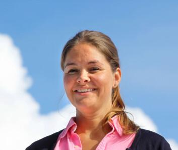 SEILER: Oda Lotte Heitmann Sundli syns de nye katamaranene virker spennende, og skal i møter med gruppen om salg i Norge.