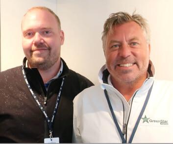 OPTIMISTER: Simon Jensen fra Abtery og svenske Niclas Swanér fra GreenStar Marine har tro på at eldift er fremtiden også i båt.
