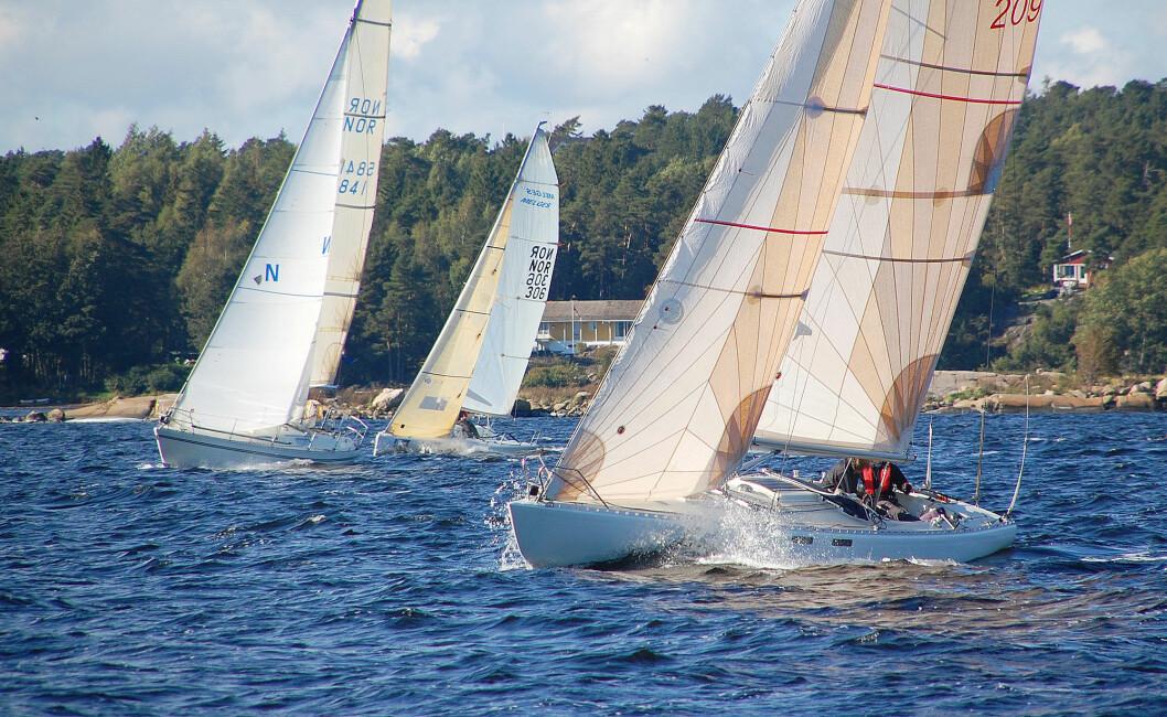 UNION RACE: Regattaen seiles etter gundermetoden hvor de raskeste båtene starter sist. Arkivbilde fra 2009-