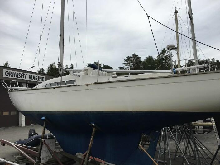 RESTAURERING: MK Båt pusser opp flere Knarr Variant i lokalene hvor b¨åten ble bygget.
