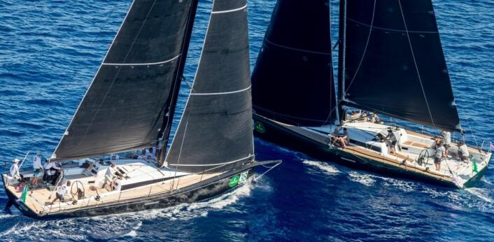Tett seiling i Club Swan 50