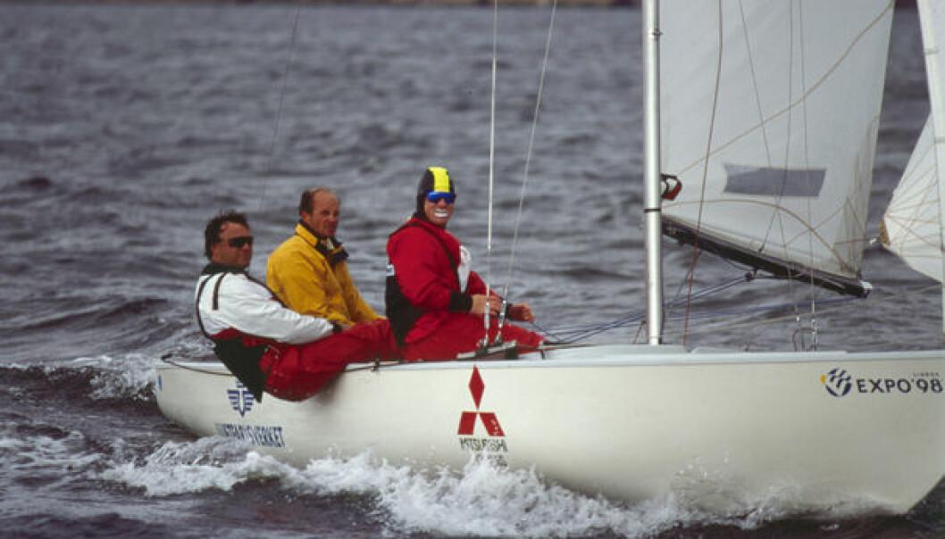 TIDENES BESTE NORSKE: Herman Horn Johannessen, Paul Davis og Espen Stokkeland har vært Norges beste Soling-lag gjennom tidene med medalje i OL, VM i match og EM.
