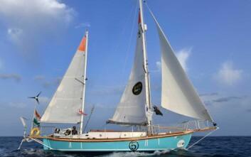 SKØYTE: Tomy seiler en nybygget båt som er en replika av «Suhaili», båten som vant Golden Globe Race for 50 år siden.