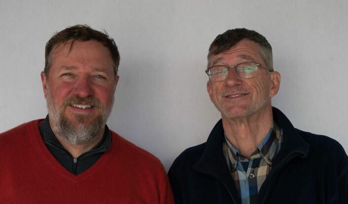 AVANSERER: Matthew Kallenberg (t.v.) og Stig Gard Paulsen klatrer begge på rankinglisten etter helgens regatta i Gandsfjord.