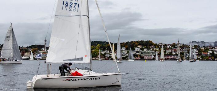 SHORTHANDED: Ole Jacob Eide og Ole Marius Ekeberg vant shorthanded-klassen med den minste båten.