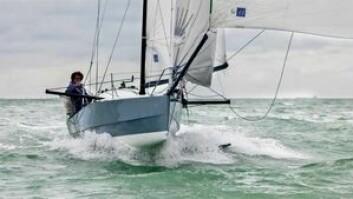 DSS: En smal Mini Transat båt med stabiliserende finne ble utviklet for 2013, men båten var ikke en gang på startfeltet.