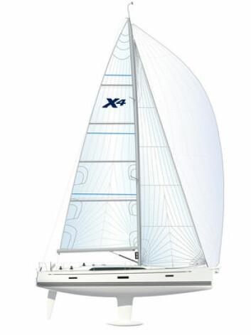 SEIL: X4 veier litt mer enn Xp44, og får litt mindre seil.