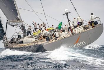 STØRST: 115-fots Baltic «Nikata» er den største båten i regattaen noen sinne.