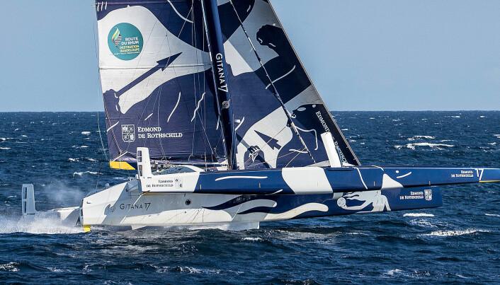 KLARE: «Maxi Edmond de Rothschild» vil også sette rekord.