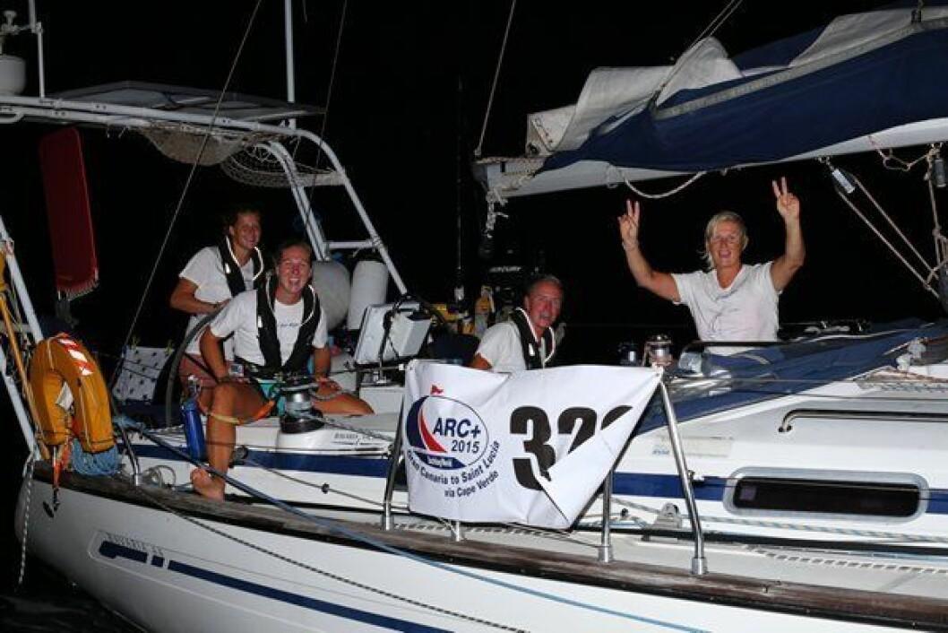 FREMME: «Lea» i mål etter å ha krysset Atlanterhavet fra Kapp Verde til St. Lucia