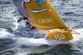 VOLUM: «Carac» er en Lift40, konstruert av Marc Lomard. Det stilles høye forventninger til båten.