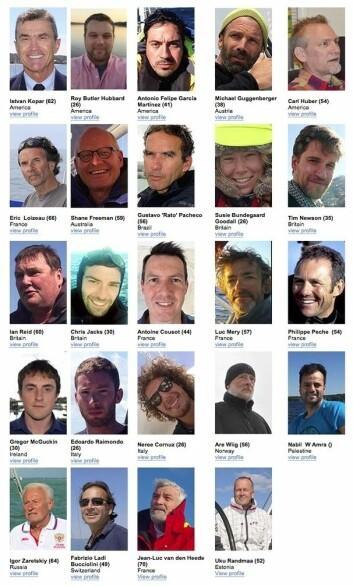 KONKURRENTER: 28 skippere har så langt meldt seg på å seile Golden Globe Race.