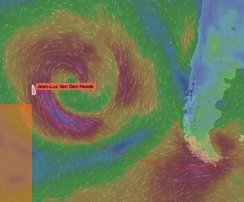 STILLEHAVET: Van Den Heede er 1800 nm fra Kapp Horn.