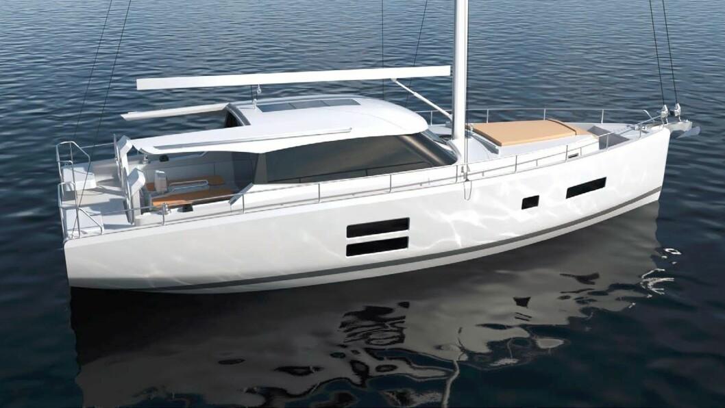 MOTORSEILER: Moody 41 DS blir en spenende båt for det norske markedet.